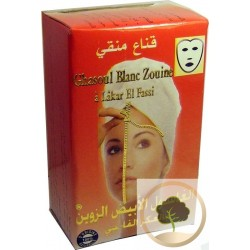 Witte Ghassoul met de Fassi Akker maskeren