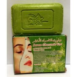 Seife mit grünem Ghassoul