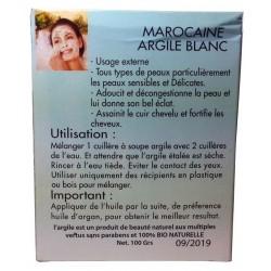 Argile Blanche- Masque Sidki Bio