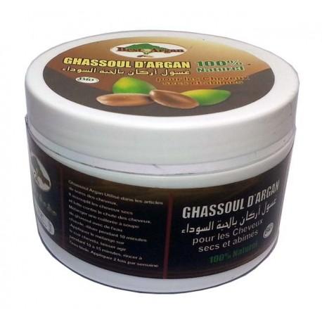 Ghassoul per capelli a base di argan e Nigella