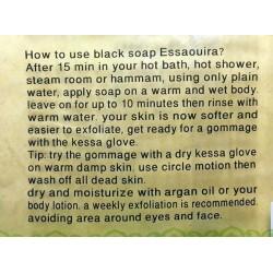 Olie van argan en Eucalyptus Zwine zwarte zeep