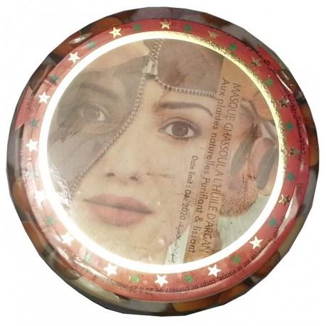 Masque de Ghassoul avec l'huile d'Argan