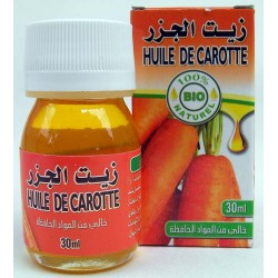 Óleo de cenoura orgânica 30 ml