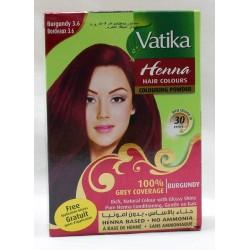 Bordeauxfarbenes Henna für das Haar - Vatika