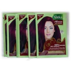 Henné bordeaux pour cheveux Vatika