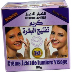 Crema luminosa Alkawtar blanqueadora para la piel