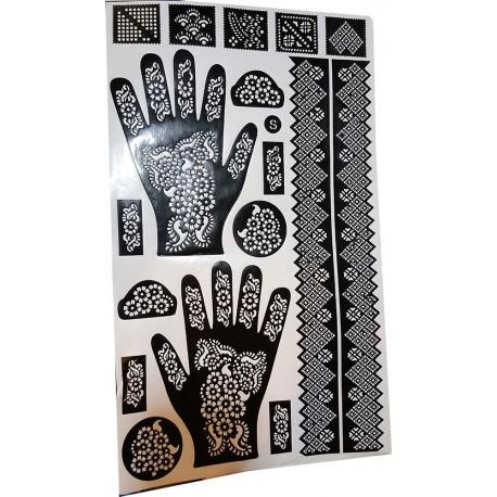 Henna Set Schablonen