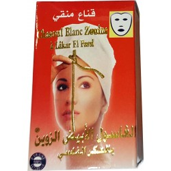 Weiße Ghassoul-Maske mit Akker Fassi
