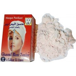 White Ghassoul Mask (Zouine) with Akker Fassi