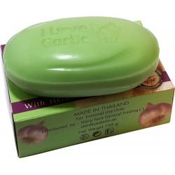 Jabón con ajo eficaz para el acné