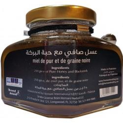 Mel e sementes pretas dhion 250g