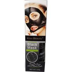 Zwarte acne en zwarte gezichtsmasker