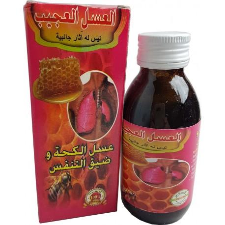 Miel contre la toux et la respiration