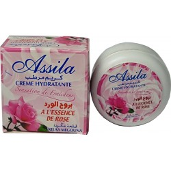 Moisturizing cream with rose odor Assila