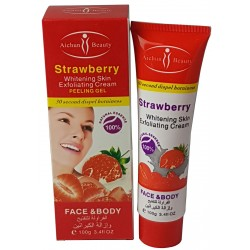 Erdbeeren hellten Skin Peeling Gel