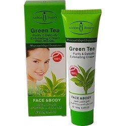 Peeling-Creme mit grünem Tee