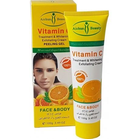 Trattamento di vitamina C e crema sbiancante