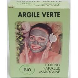 Groene klei masker